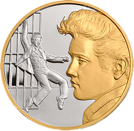 Elvis Collector Medal - Silver with Select Gold Plate, 1.5''