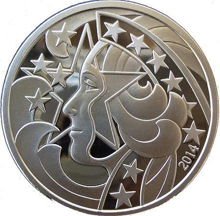 Liberty's Glory - 1 oz. Silver, 1.5'' - Design by Gary Marks